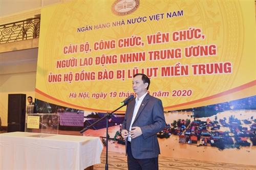 Ngân hàng Nhà nước Trung ương quyên góp, ủng hộ đồng bào miền Trung