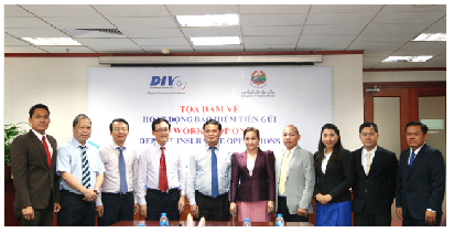 Quỹ bảo vệ người gửi tiền Lào thăm và làm việc tại Bảo hiểm tiền gửi Việt Nam