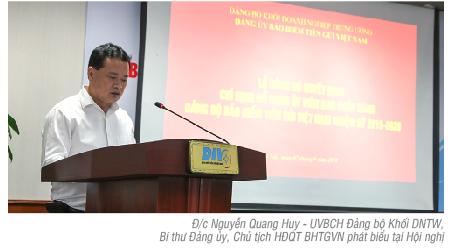 Hội nghị Ban Chấp hành (mở rộng) Đảng bộ Bảo hiểm Tiền gửi Việt Nam nhiệm kỳ 2015-2020