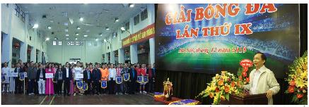 Công đoàn Cơ quan Ngân hàng Nhà nước Trung ương tổ chức giải bóng đá lần thứ IX