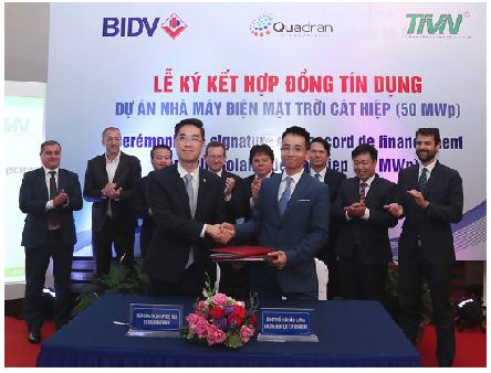 BIDV cấp tín dụng tài trợ Dự án Nhà máy điện mặt trời Cát Hiệp