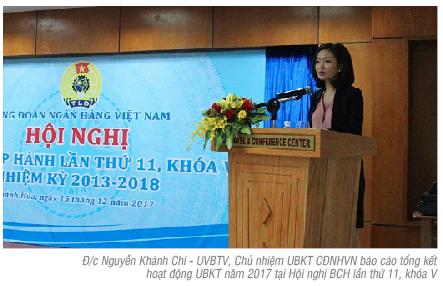 Những kết quả đạt được trong hoạt động kiểm tra Công đoàn Ngân hàng Việt Nam năm 2017