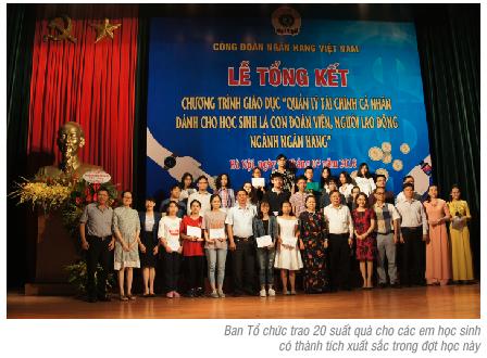 Công đoàn NHVN tổng kết chương trình giáo dục quản lý tài chính cá nhân dành cho học sinh