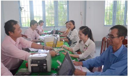 Hiệu quả từ những điểm giao dịch Ngân hàng Chính sách xã hội tỉnh Vĩnh Long