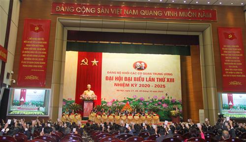 Xây dựng Đảng bộ Khối các cơ quan  Trung ương trong sạch, vững mạnh, góp phần thực hiện thắng lợi sự nghiệp công nghiệp hóa, hiện đại hóa đất nước