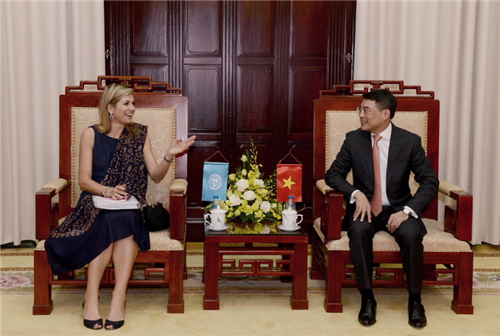 Thống đốc NHNN tiếp Hoàng hậu Hà Lan Máxima - Đặc phái viên của Tổng thư ký Liên hợp quốc về tài chính toàn diện