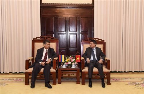 Thống đốc NHNN Lê Minh Hưng tiếp Đại sứ Đặc mệnh Toàn quyền Cộng hòa Armenia tại Việt Nam