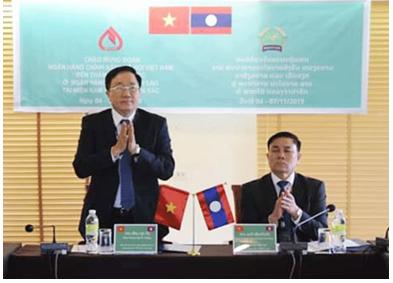 NHCSXH Việt Nam sang thăm và làm việc với Ngân hàng Chính sách nước CHDCND Lào