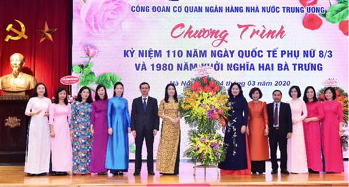 Công đoàn Cơ quan NHNN TW kỷ niệm 110 năm ngày Quốc tế Phụ nữ 8/3 và 1980 năm khởi nghĩa Hai Bà Trưng