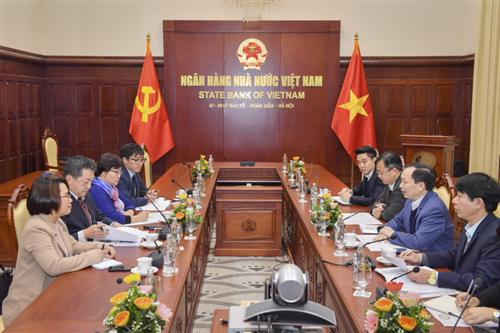 Phó Thống đốc Thường trực NHNN Đào Minh Tú tiếp Trưởng Đại diện Văn phòng JICA tại Việt Nam