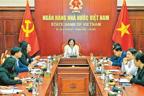 Thống đốc NHNN Nguyễn Thị Hồng làm việc trực tuyến với Ngân hàng Thanh toán Quốc tế