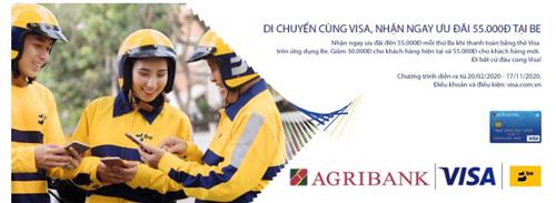 Cùng thẻ Agribank Visa thanh toán online nhận ngàn ưu đãi