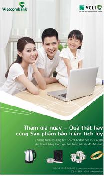 Quà tặng hấp dẫn với sản phẩm bảo hiểm tích lũy của Vietcombank và VCLI