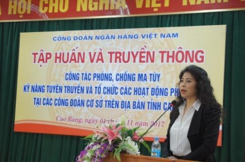 Công đoàn Ngân hàng Việt Nam: Tập huấn và truyền thông về phòng, chống ma tuý