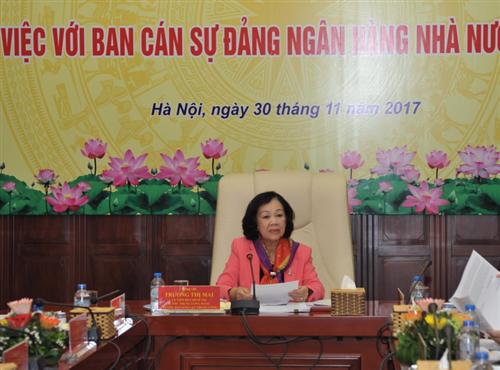 Đoàn kiểm tra của Ban Bí thư: Ban Cán sự Đảng NHNN đã triển khai, thực hiện tốt Nghị quyết Trung ương 4 và Chỉ thị số 05/CT-TW