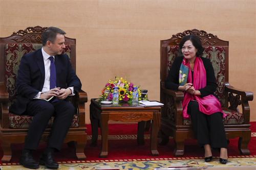 Phó Thống đốc Nguyễn Thị Hồng tiếp Đại sứ đặc mệnh toàn quyền Luxembourg phụ trách khu vực ASEAN