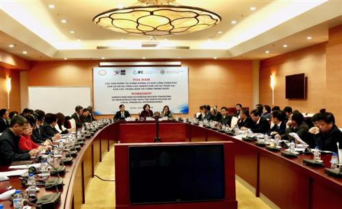 """Tọa đàm """"Các sản phẩm tài chính không có bảo lãnh Chính phủ của ADB/IFC/AIIB cho cơ sở hạ tầng với sự tham gia của các trung gian tài chính"""""""