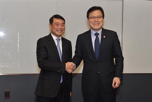 Thống đốc NHNN tiếp Chủ tịch Ủy ban Dịch vụ Tài chính Hàn Quốc