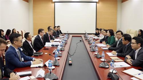 Phó Thống đốc NHNN Nguyễn Thị Hồng tiếp Đoàn Hội đồng Kinh doanh Hoa Kỳ - ASEAN