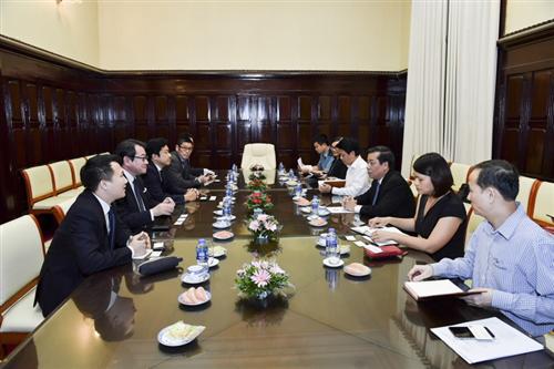Phó Thống đốc Nguyễn Kim Anh tiếp Giám đốc điều hành JCB