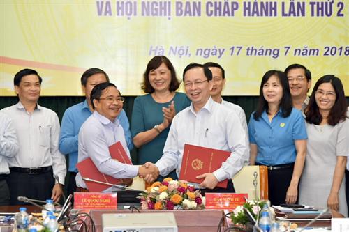 Hội nghị ký Quy chế phối hợp giữa Thủ trưởng hành chính Cơ quan NHNN Trung ương với Ban Thường vụ Công đoàn Cơ quan NHNN Trung ương và Hội nghị Ban Chấp hành Công đoàn Cơ quan NHNN Trung ương lần thứ II, nhiệm kỳ 2018-2023