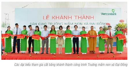 Lễ khánh thành và bàn giao công trình Trường mầm non xã Đại Đồng, huyện Văn Lâm, tỉnh Hưng Yên do Vietcombank tài trợ 3 tỷ đồng