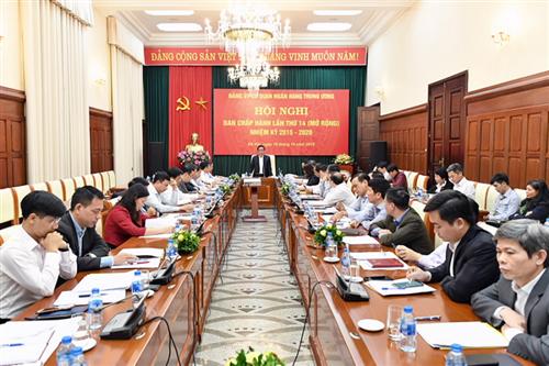 Hội nghị Ban Chấp hành lần thứ 14 (mở rộng) Đảng bộ Cơ quan NHTW nhiệm kỳ 2015 – 2020