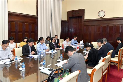 Phó Thống đốc Nguyễn Kim Anh làm việc với Phó Chủ tịch JFSA