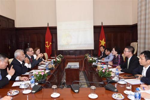 Phó Thống đốc Nguyễn Thị Hồng tiếp và làm việc với Đoàn Đại biểu Đảng Xã hội Chủ nghĩa Thống nhất Venezuela