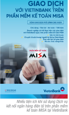 VietinBank triển khai thí điểm kết nối  ngân hàng điện tử trên phần mềm kế toán MISA