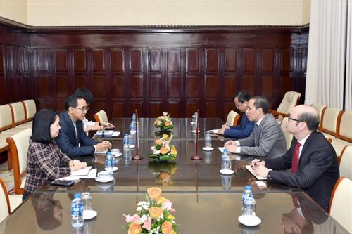 Phó Thống đốc NHNN Đoàn Thái Sơn tiếp Đại sứ Thái Lan tại Việt Nam