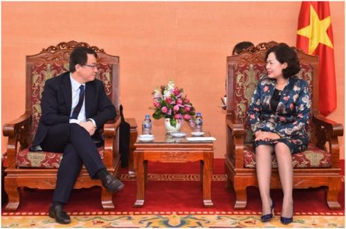 Phó Thống đốc Nguyễn Thị Hồng tiếp Tổng Vụ trưởng Vụ Chiến lược và Chính sách ADB