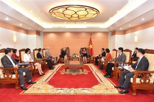 Phó Thống đốc Nguyễn Thị Hồng làm việc với Phó Chủ tịch ADB