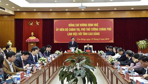 Phó Thống đốc Đào Minh Tú tham gia đoàn công tác của Chính phủ tại Cao Bằng