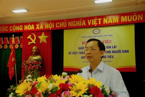 Ngân hàng Nhà nước làm việc với tỉnh Gia Lai nhằm tháo gỡ khó khăn cho người dân vay vốn trồng hồ tiêu
