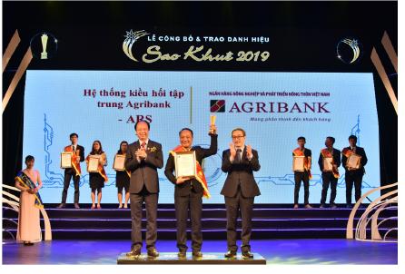 Phát huy tinh thần xung kích chuyển đổi số,  Agribank được vinh danh tại 02 hạng mục Giải thưởng Sao Khuê 2019