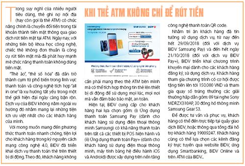 Khi thẻ ATM không chỉ để rút tiền