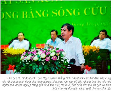 Thách thức của ngành lúa gạo  và đóng góp của Agribank  trong chuỗi giá trị lúa gạo bền vững tại Việt Nam