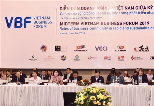 VBF giữa kỳ 2019: Vai trò của cộng đồng doanh nghiệp trong phát triển nhanh gắn với bền vững