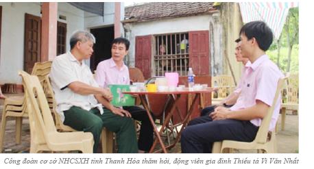 Công đoàn cơ sở NHCSXH tỉnh Thanh Hóa  thăm hỏi, động viên gia đình Thiếu tá biên phòng hy sinh khi truy bắt tội phạm ma tuý
