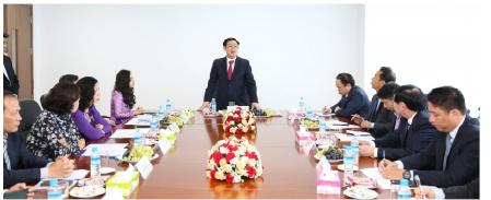 Phó Thủ tướng Vương Đình Huệ thăm Chi nhánh BIDV Yangon