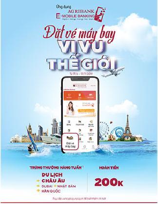 Đặt vé máy bay - Vi vu thế giới với ứng dụng Agribank E-mobile Banking
