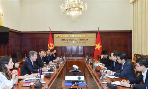Phó Thống đốc Đào Minh Tú làm việc với Đoàn Hội đồng kinh doanh Châu Âu – ASEAN