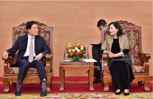 Phó Thống đốc Nguyễn Thị Hồng làm việc với Nhóm chuyên gia tư vấn chương trình BOK-KPP 2019
