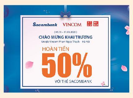 Chủ thẻ Sacombank được ưu đãi lớn nhân dịp Uniqlo khai trương tại Hà Nội