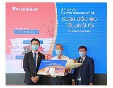 Sacombank trao thưởng thẻ tiết kiệm 2.5 tỷ đồng cho khách hàng