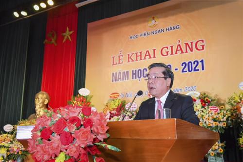 Phó Thống đốc Nguyễn Kim Anh dự Lễ khai giảng Học viện Ngân hàng năm học 2020 - 2021